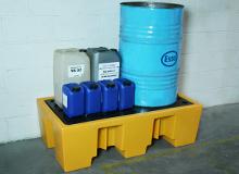 Ecosure 2 Drum Plastic Spill Pallet - PE Grid