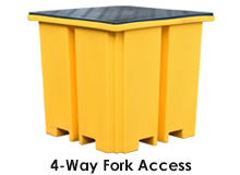 Single Plastic IBC Bund Pallets & Covers