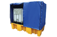 Double Plastic IBC Bund Pallets & Covers