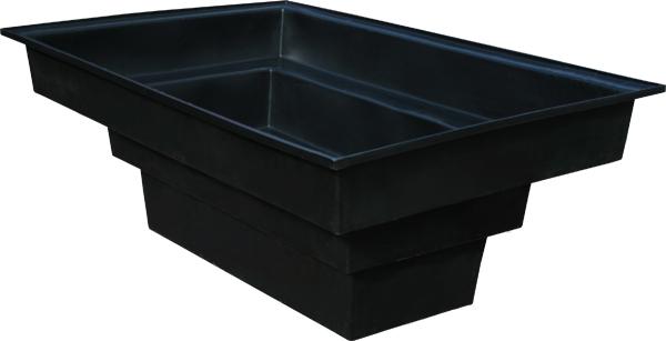 Ecosure 4000 litre large rectangular garden pond black for Rectangular koi pond